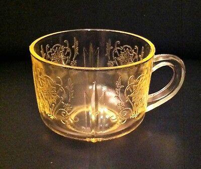 U S Glass Yellow Primo Depression Glass Cup