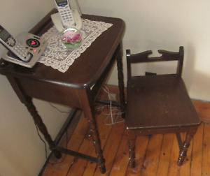 Telephone table set