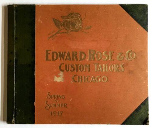 1917 Edwards Rose & Co. Custom Tailors Chicago, Illinois Illustrated Catalogue