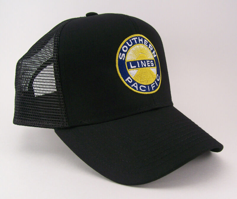 Southern Pacific Railroad Embroidered Mesh Cap Hat #40-0002bm