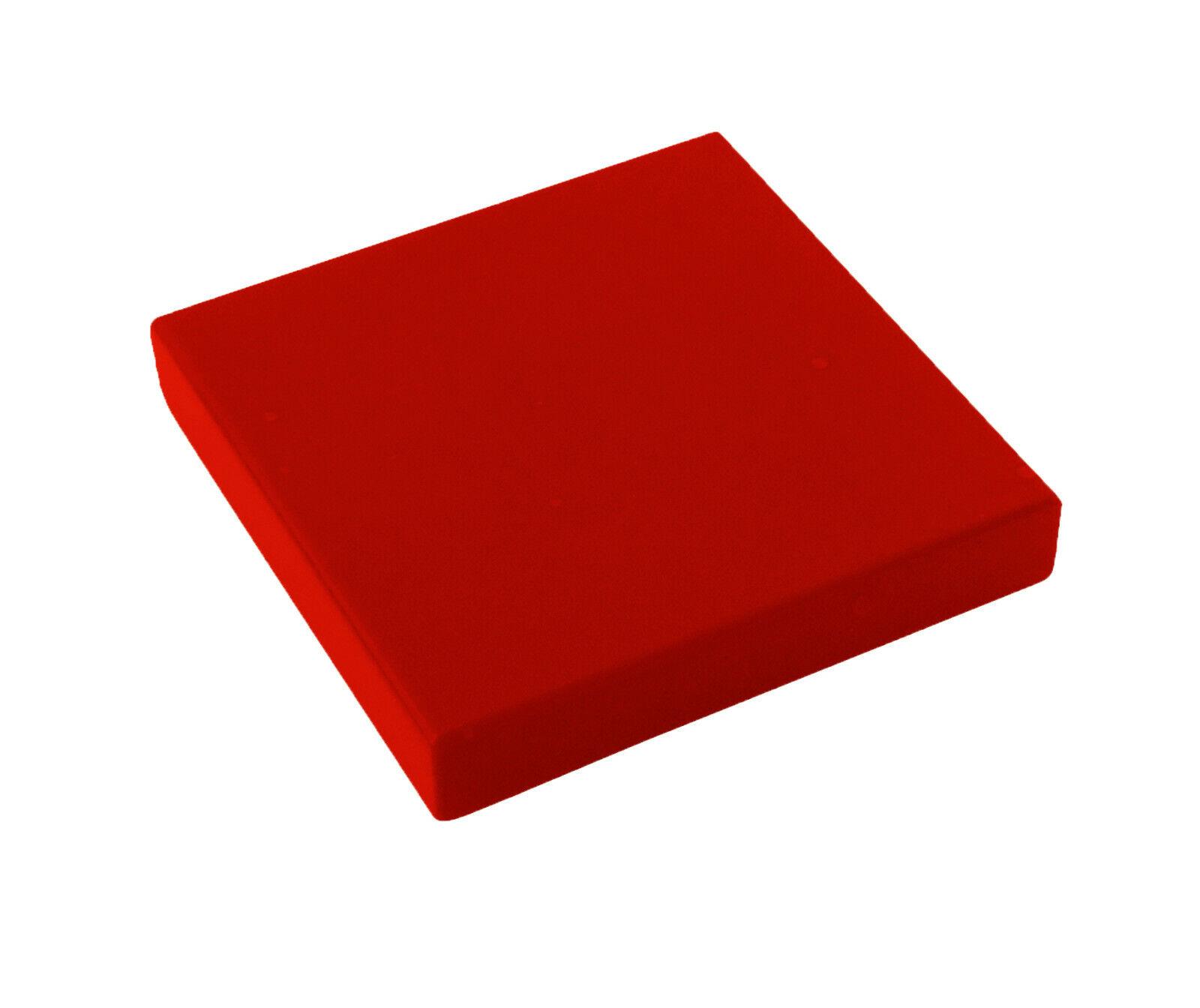 20 x Fliese Kachel 1x1 rot Red Tile 1x1 with Groove LEGO 3070b NEUWARE