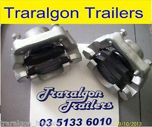2 x Hydraulic Disc Caliper Brake alko Pads dacromet gal finish Boat Trailer D101