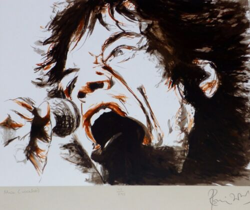 """Ronnie Wood """"voodoo Mick"""" (jagger) Hand Signed Serigraph 115/295 Rolling Stones"""
