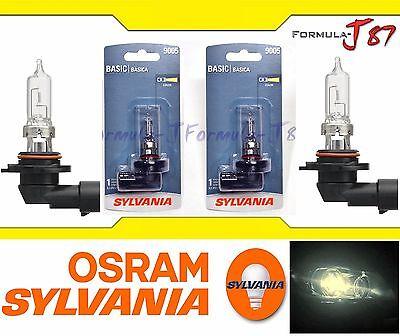 Sylvania Basic 9005 HB3 65W Two Bulbs Head Light High Beam Halogen Plug Play OE