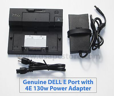 dell e port pr03x docking station k07a e6410 e6420 e6500 + pa-4e adapter 130w