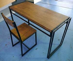 New Black Ironstone Student Computer Desk & Chair Timber Look Melbourne CBD Melbourne City Preview