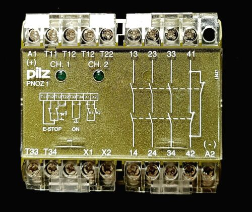 New - Pilz PNOZ 1  3S/1O Safety Relay 24 VDC Nr. 475695 Two-Hand Saftey Operate