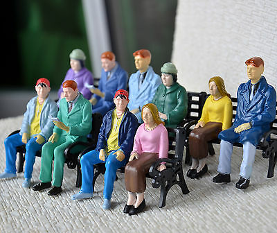 5 pcs G Gauge Figures 1:24 All Seated Passengers Painted People