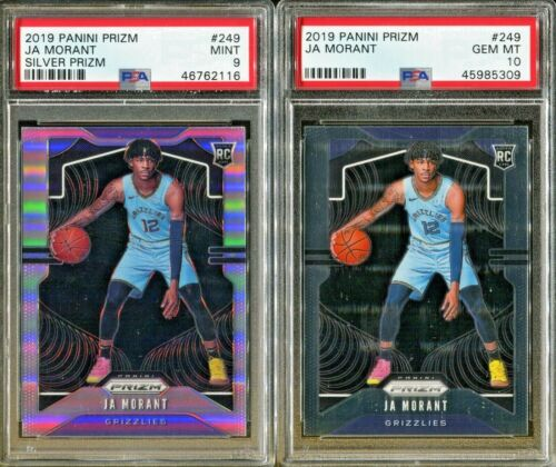Absolute Mystery Pack Patch Auto Basketball Ja Morant Prizm Silver Rookie PSA 10