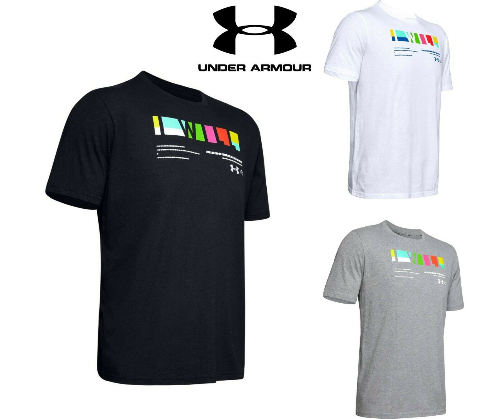 Under Armour HeatGear I Will Multi T-Shirt Herren Freizeit Kurzarm Shirt 1348436