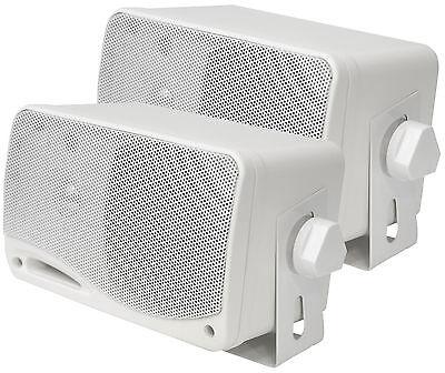 PLMR24 PYLE Marine Box Speaker s 3.5 , 200-Watt, 2-Way WHITE  - $34.00