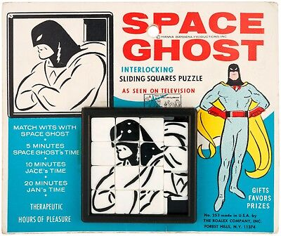 SPACE GHOST ROALEX SLIDE PUZZLE 1960's Hanna Barbera MOC