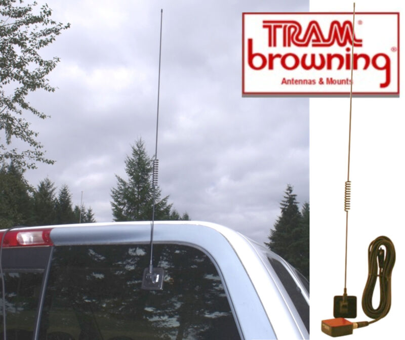 1198 TRAM Glass Mount CB & Pre-Tuned Weather-Band Land Mobile Antenna
