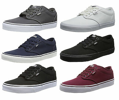 VANS Atwood Canvas Fashion Skater Shoes Plimsolls Grey Navy Black White Trainers