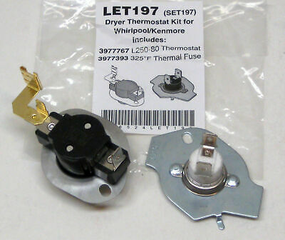 N197 Dryer Limit & Thermal Thermostat Kit for Whirlpool