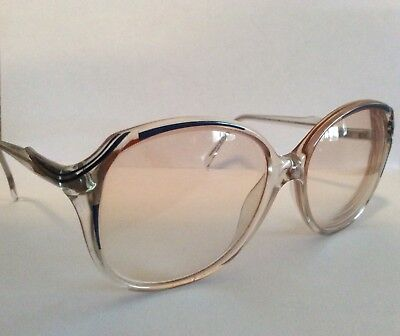 Vintage Lenscrafters Womens Plastic Glasses Frames With Rx Tinted