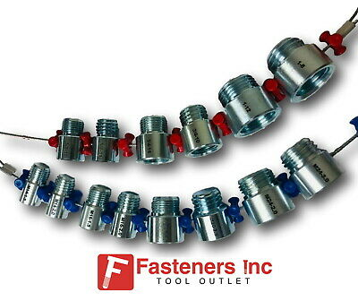 Fastener Screw Bolt Nut Thread Measure Gauge Size Checker - Large Inch Metric