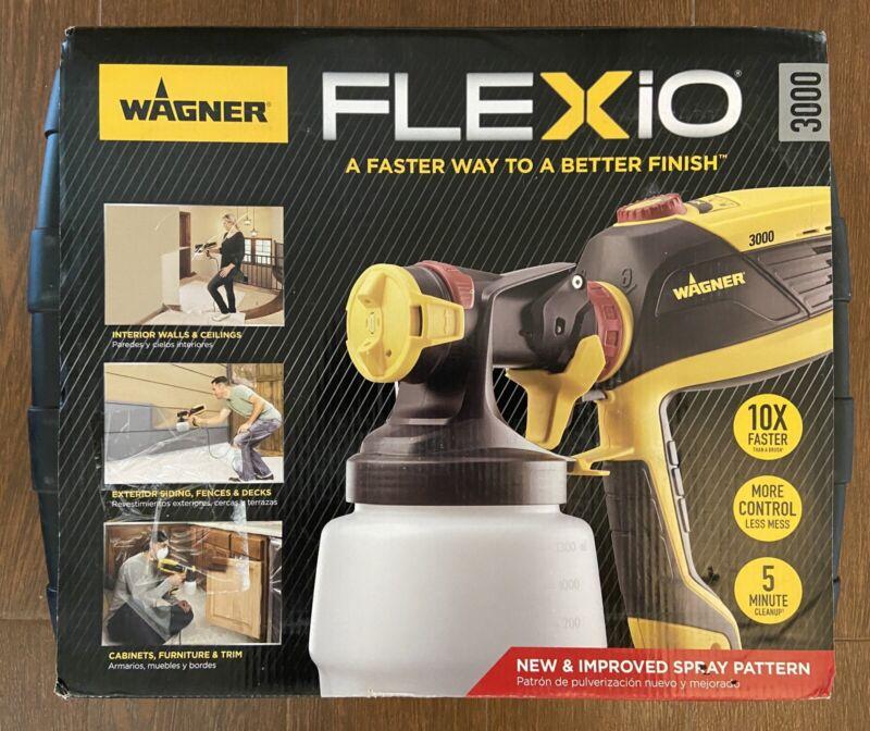Wagner Flexio 3000 HVLP Paint Sprayer with Case, Interior Exterior & Detail
