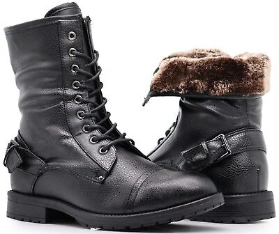- NIB MEN Winter Military Ankle Mid Calf Snow Boots Lace Up Combat Oxfords SH05