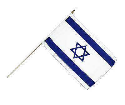 Hand Held Israeli Flag - 14cm x 21cm (PACK OF 12) - Israel Flags