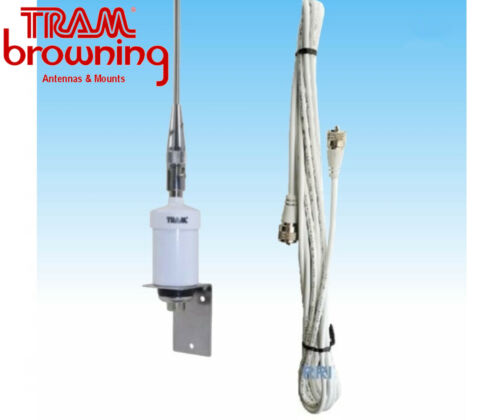 """1602 TRAM 38"""" VHF Marine Antenna with Quick-Disconnect Thick Whip"""