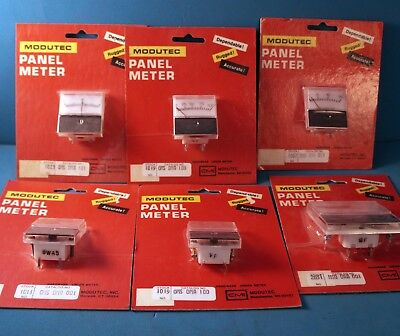 Modutec Analog Panel Meter Assortment 1019 1023 1062 2031 1011 Lot6 New