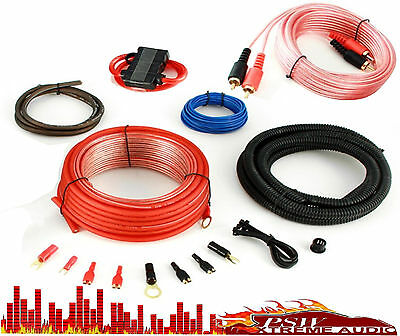 KITZERO BOSS CAR AUDIO 10 GAUGE/700watt AMPLIFIER INSTALLATION WIRING KIT