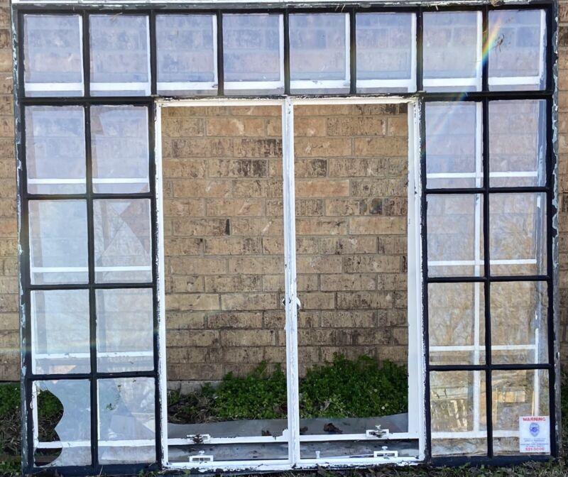 Reclaimed Vintage Steel Framed Casement Glass Windows 24 Pane