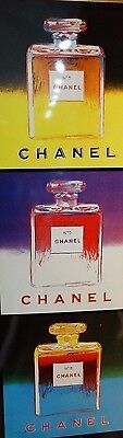 Chanel Perfume POS Poster Authentic Andy Warhol Artwork