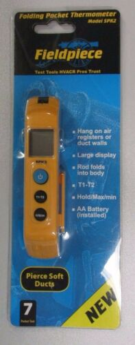 FIELDPIECE FOLDING POCKET IN-DUCT THERMOMETER SPK2