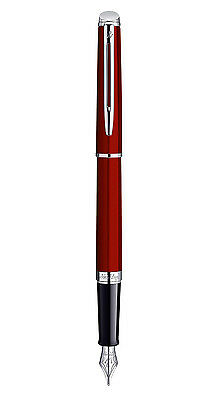 WATERMAN HEMISPHERE FOUNTAIN PEN COMET RED FINE  PT NEW IN BOX WIDE BAND