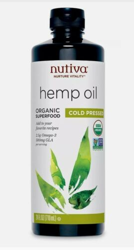 Nutiva Organic Cold Pressed Hemp Oil 24 Ounce