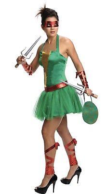 NEW Rubies Teenage Mutant Ninja Turtle RAPHAEL COSTUME ADULT WOMEN'S SMALL 2-6](Ninja Turtle Women Costume)
