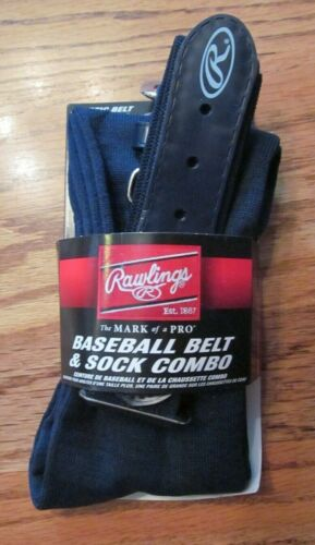 RAWLINGS Baseball BELT & SOCK COMBO~NAVY BLUE~Size Small~NEW with tags
