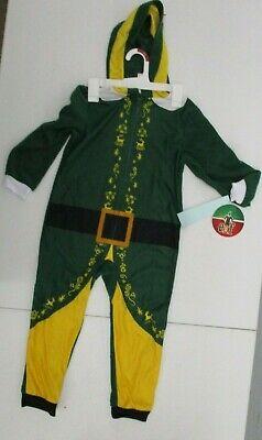 ELF MOVIE CHILDRENS BOYS GIRLS HOODED PAJAMAS PANTS TOP XS NEW NWT CHRISTMAS