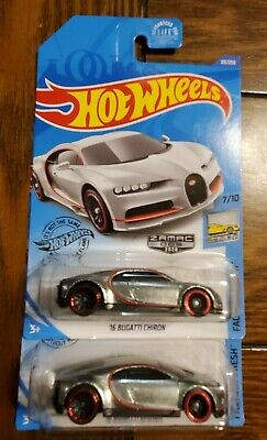 2020 Hot Wheels '16 Bugatti Chiron # 7 of 10 HW Factory Fresh ZAMAC New VHTF