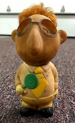 Vinyl Squeeze Toy Boy With Lollipop 1969 Parksmith Corp  Eyes Are Missing