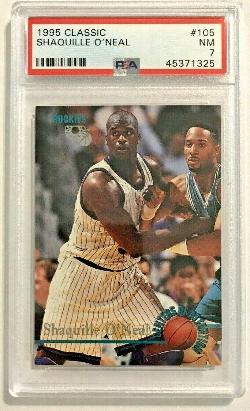 SHAQUILLE O'NEAL 1995 Classic RookieCard 105 Orlando Magic P