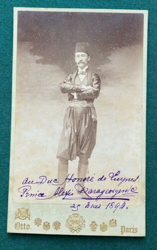 Antique Signed Photo Prince Alexis Karageorgevich Serbia Provenance Duke Honore