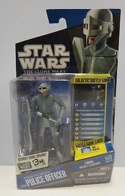 STAR WARS THE CLONE WARS ACTION FIGURE MANDALORIAN POLICE OFFICER CW09