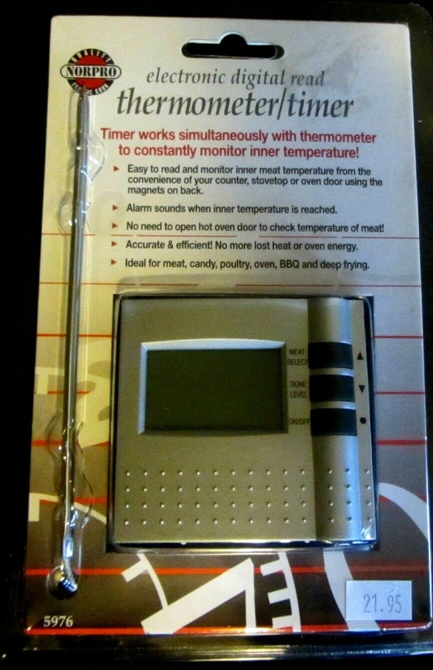 Norpro Electronic Digital Read Thermometer Timer