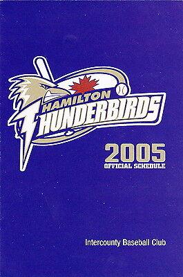 2005 Hamilton Thunderbirds Minor League Baseball Pocket Schedule