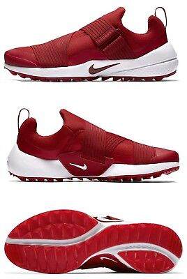 Nike Air Zoom Gimme Spikeless Golf 849955-600 Shoes Red White Shoes Size 8