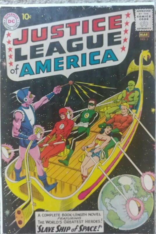 JUSTICE LEAGUE OF AMERICA #3 VG/FN 5.0 DC 3/1961