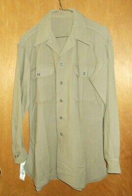 1940s Men's Shirts, Sweaters, Vests Vintage 1940's WWII US U.S. Army Officer's Men's Uniform Wool Shirt Size 15 x 32 $24.00 AT vintagedancer.com