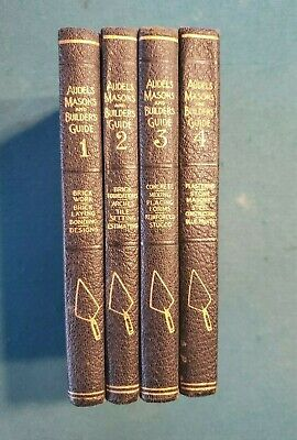 Vintage Audels Masons and Builders Guide Four Volume Set Copyrighted 1924,1945 Four Volume Set