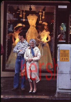 1980's Amateur 35mm Slide Photo Negative Young Man Older Woman Bridal (Young Women Stores)