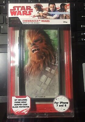 DISNEY STAR WARS CHEWBACCA ROARS WRAP KIT  CASE FOR IPHONE 7 -  8
