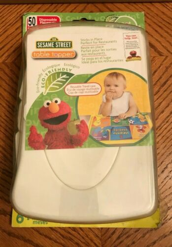Neat Solutions Sesame Street Table Topper Disposable Stick-on Placemats w/Case