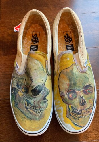 Vans X Sneakers Vincent Van Gogh SKULL Classic Slip On- Sz Men 13